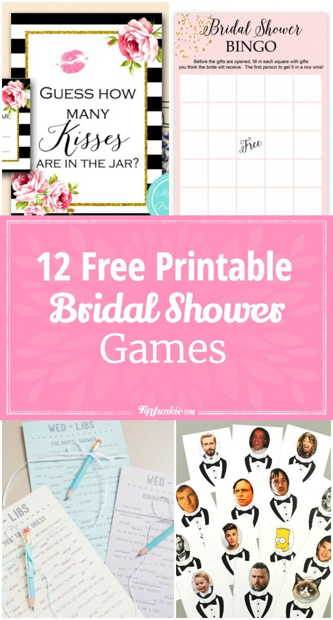 12 Free Printable Bridal Shower Games | Party Time | Pinterest - Free Printable Bridal Shower Games
