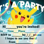 12 Superb Pokemon Birthday Invitations | Kittybabylove   Free Printable Pokemon Birthday Invitations