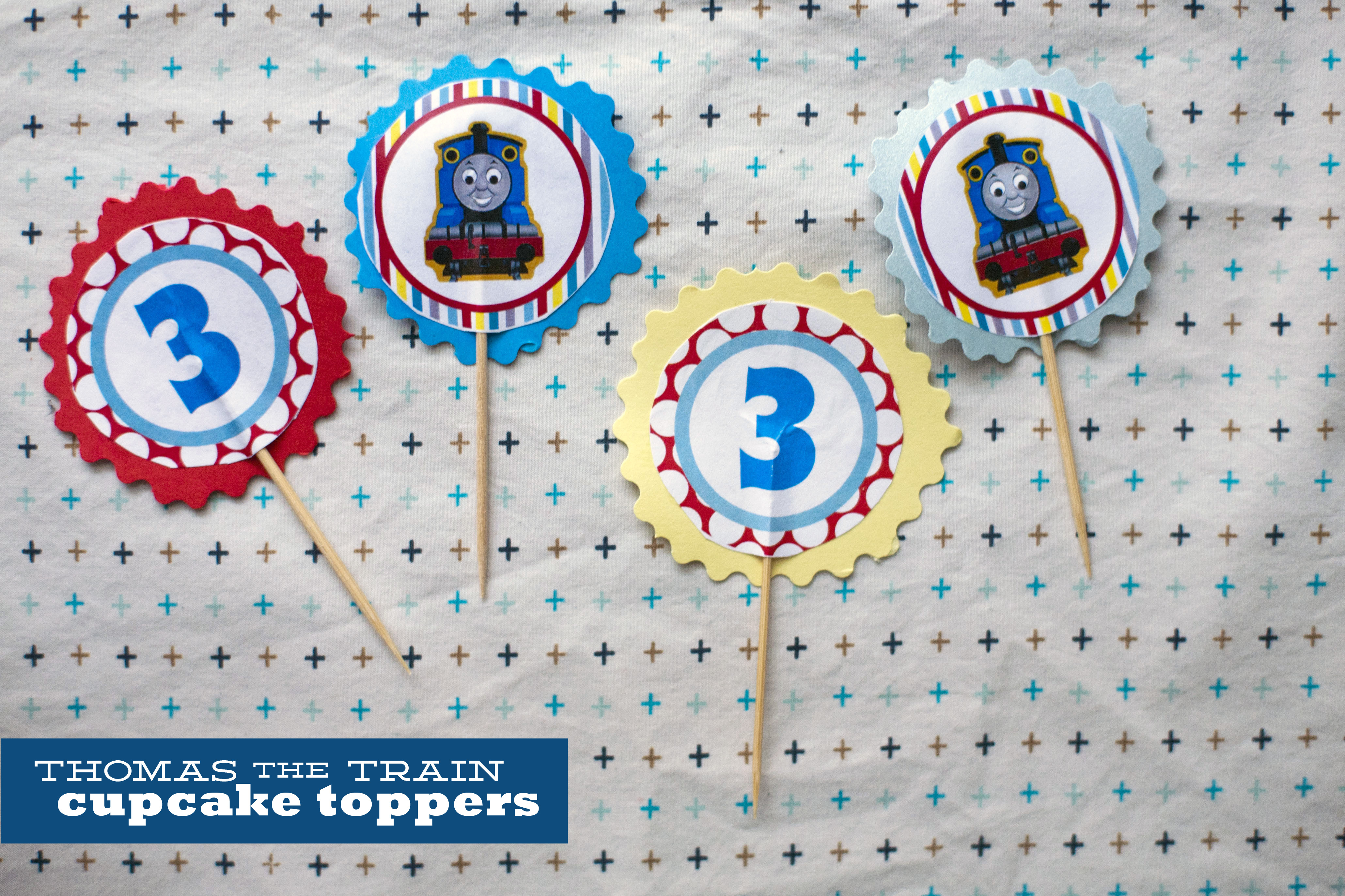 126. Thomas Cupcake Toppers. | Make Great - Free Printable Train Cupcake Toppers