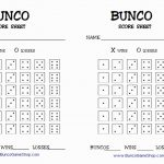 13 Best Of Free Bunco Scorecard Template   Document Template Ideas   Printable Bunco Score Cards Free