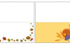 13 Sets Of Free, Printable Thanksgiving Place Cards – Free Printable Thanksgiving Place Cards