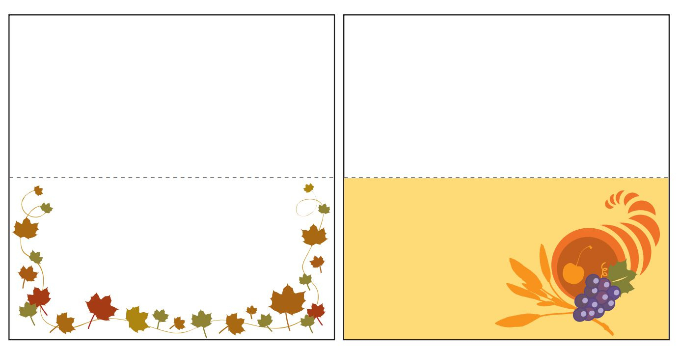 13 Sets Of Free, Printable Thanksgiving Place Cards - Free Printable Thanksgiving Place Cards To Color