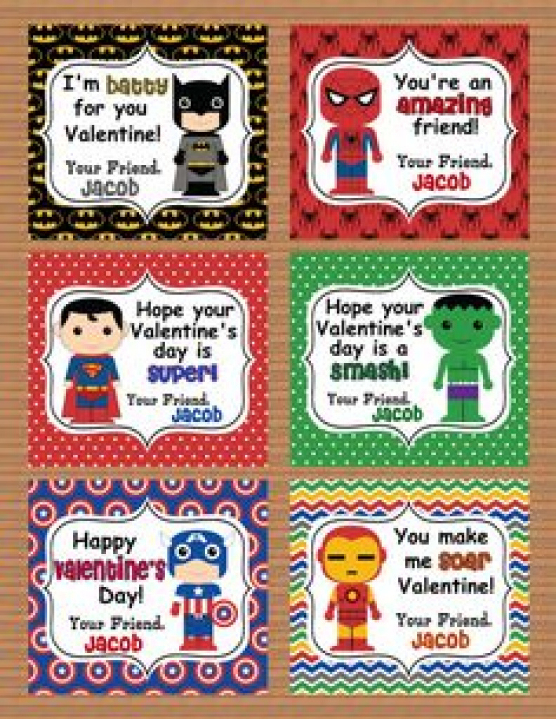 136 Best Valentine's Day Images On Pinterest | Valentine Treats With - Free Printable Superman Valentine Cards