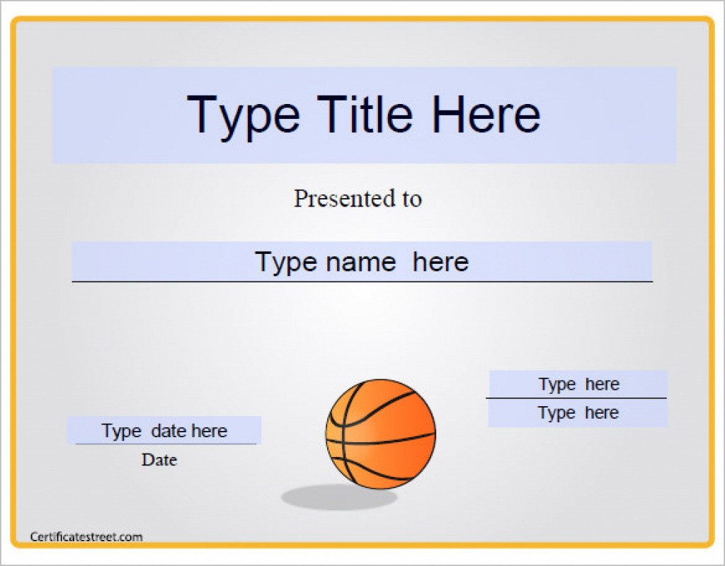 14+ Basketball Certificate Templates - Psd   Free & Premium - Basketball Participation Certificate Free Printable