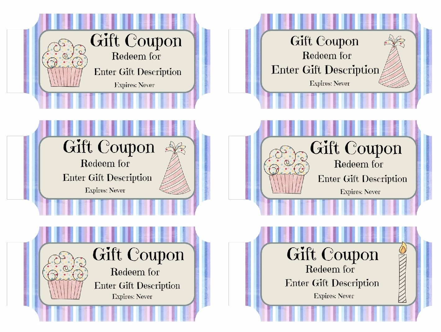 14 Images Of Birthday Coupon Template Printable Free Designs - Free Printable Blank Birthday Coupons