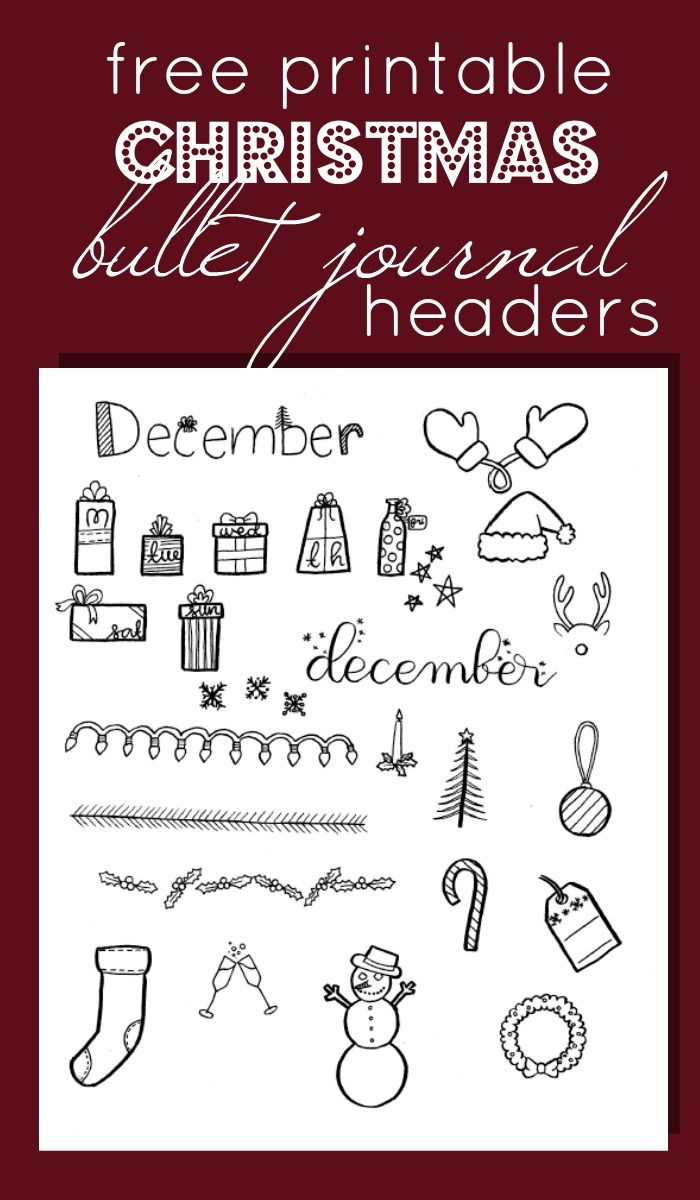 15 Christmas Bullet Journal Layout Ideas + Free Printable Christmas - Free Printable Christmas Alphabet
