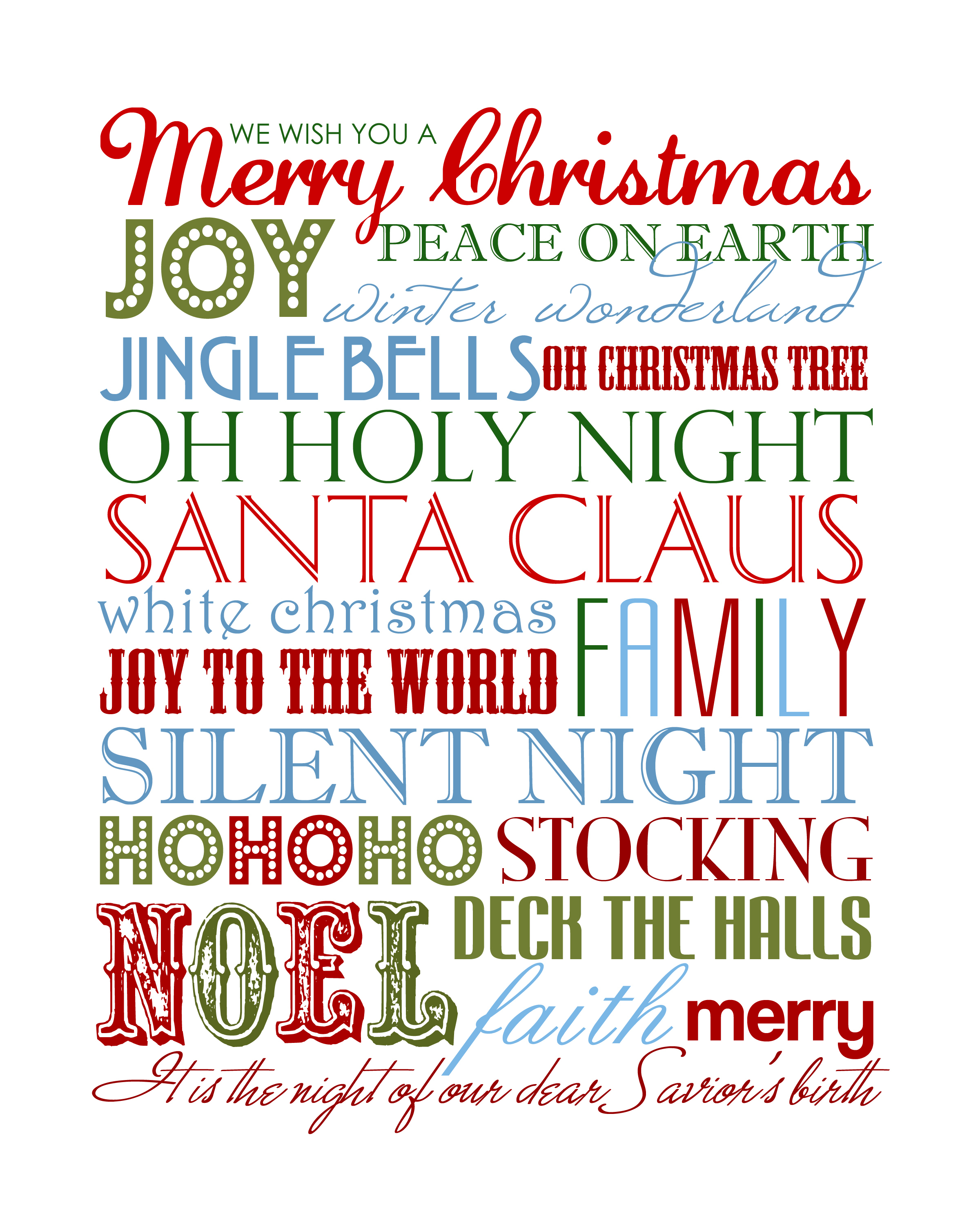 15 Christmas Free Printables - How To Nest For Less™ - Free Printable Christmas Pictures