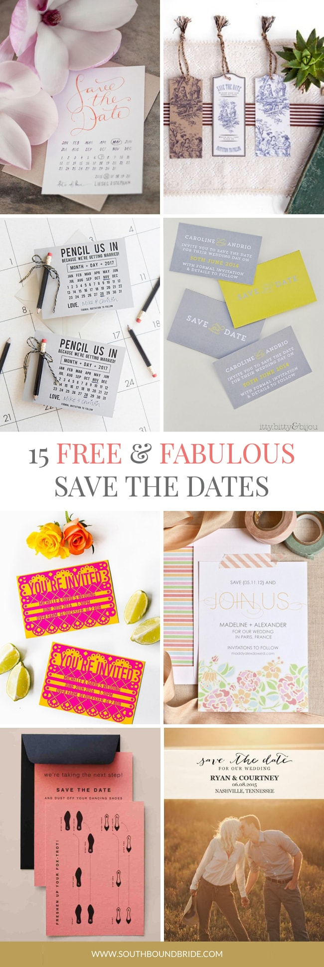 15 Free Printable Save The Dates | Southbound Bride - Free Printable Save The Date