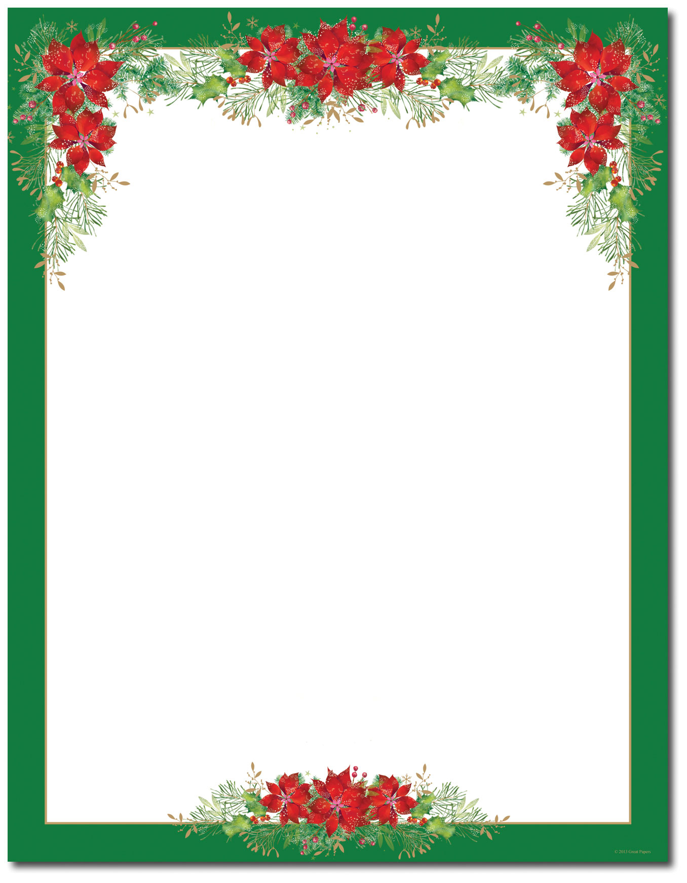 15 Poinsettia Page Border Designs Images - Free Printable Christmas - Free Printable Page Borders Christmas