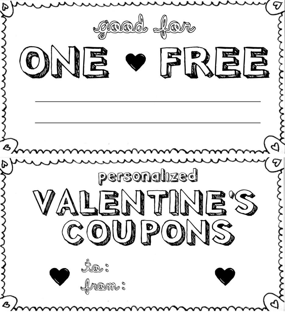 15 Sets Of Free Printable Love Coupons And Templates - Free Printable Coupon Templates
