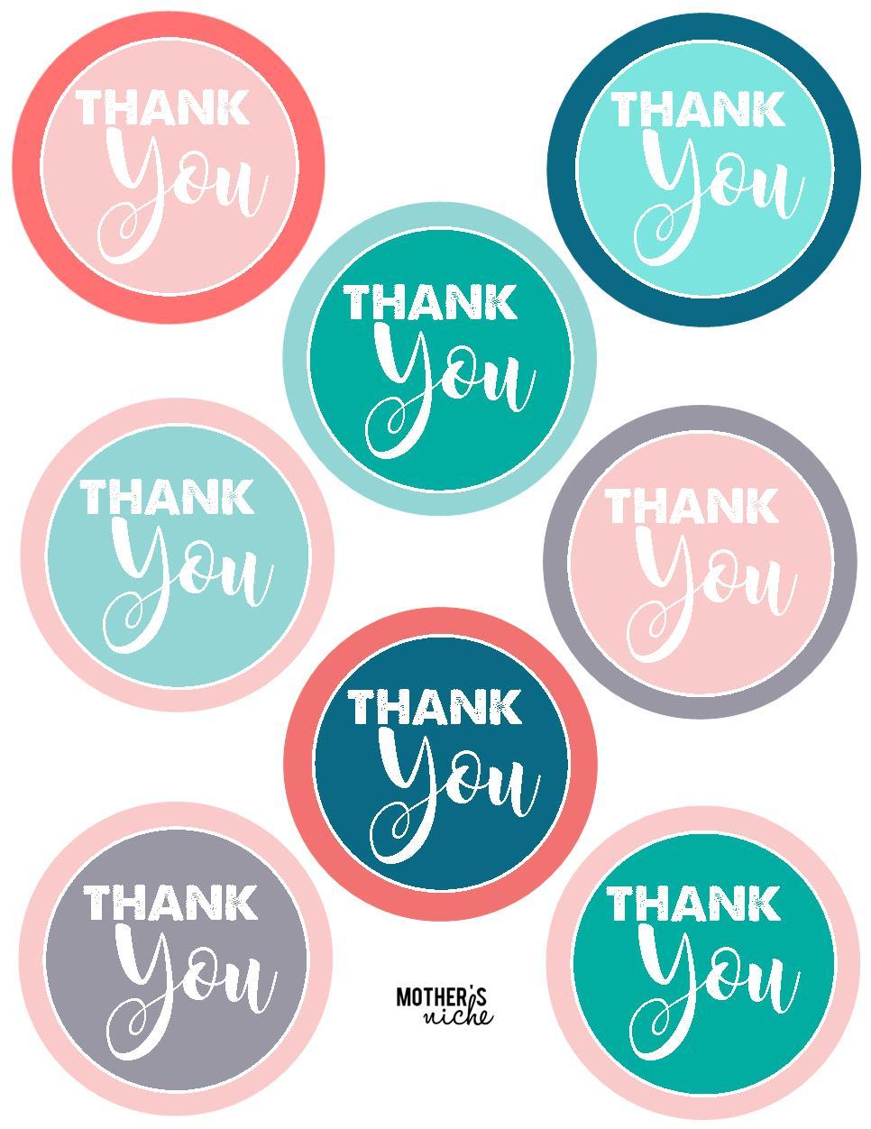 """15 Teacher Gift Ideas: Free Printable """"thank You"""" Tags - Free Printable Thank You Tags"""
