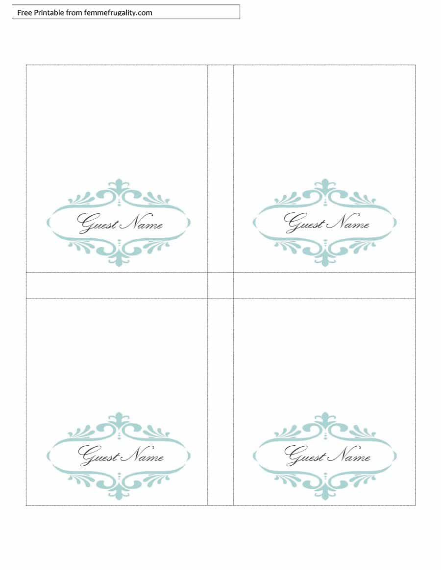 16 Printable Table Tent Templates And Cards - Template Lab - Free Printable Tent Cards Templates