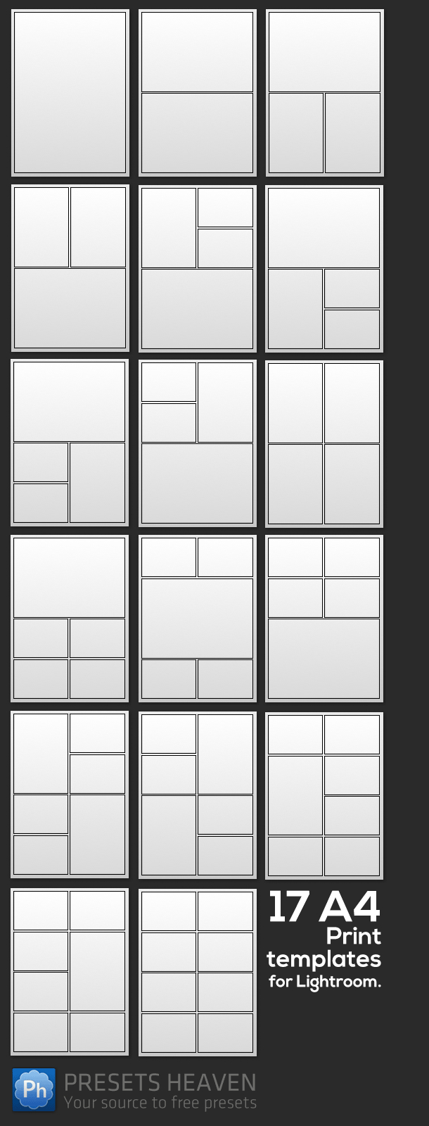 17 Free Print Templates For Lightroom | Free Lightroom Stuff - Free Printable Photo Collage Template