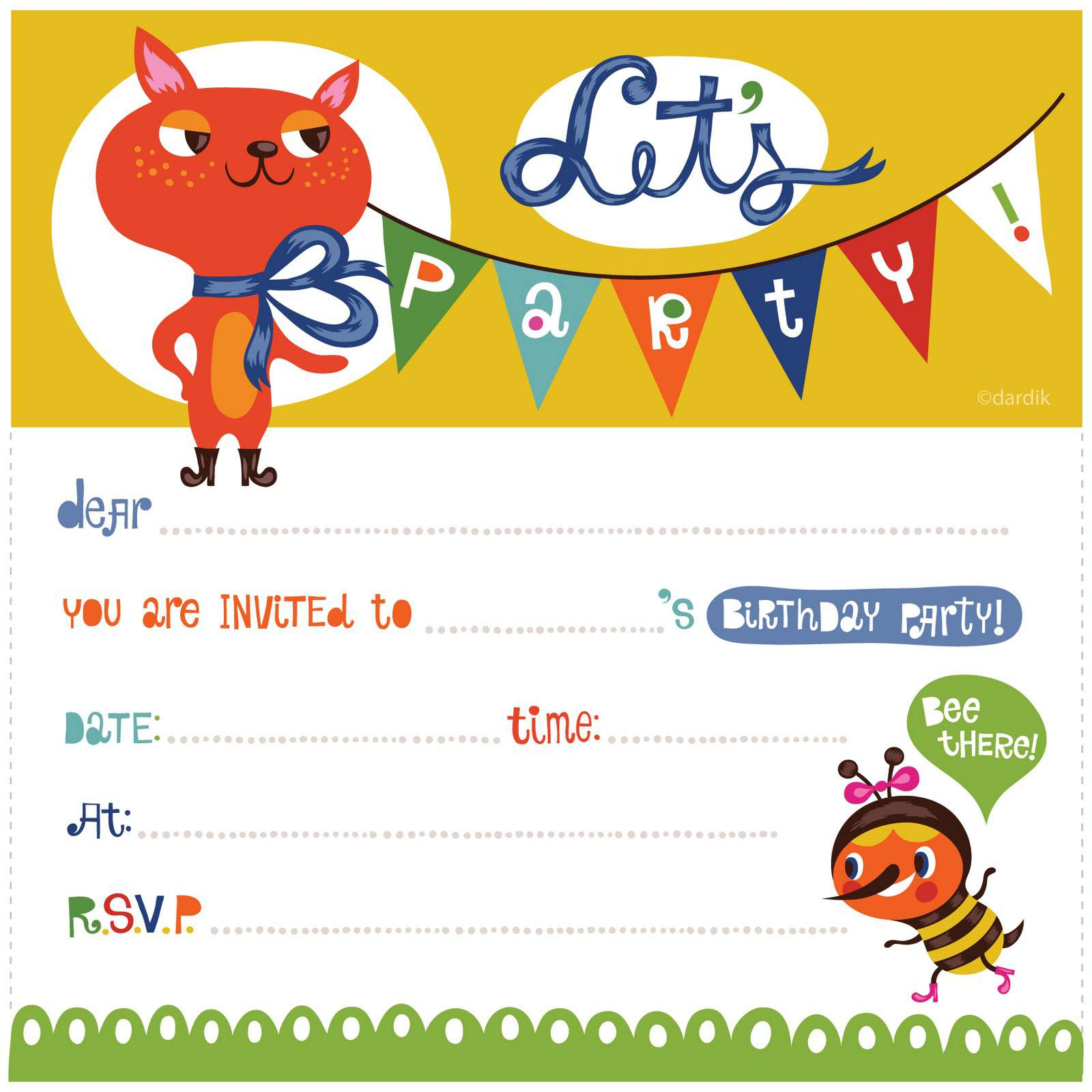 17 Free, Printable Birthday Invitations - Free Printable Birthday Invitations For Kids