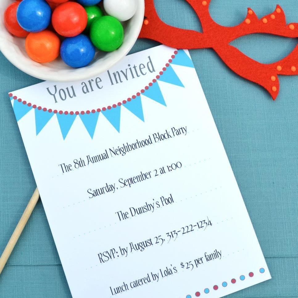 17 Free, Printable Birthday Invitations - Free Printable Event Invitations