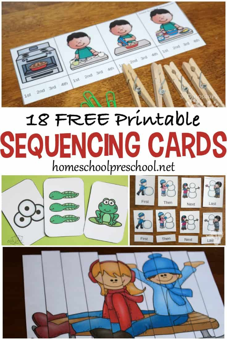 18 Free Printable Sequencing Cards For Preschoolers - Free Printable Sequencing Worksheets For Kindergarten