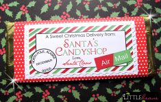 Free Printable Christmas Candy Bar Wrappers