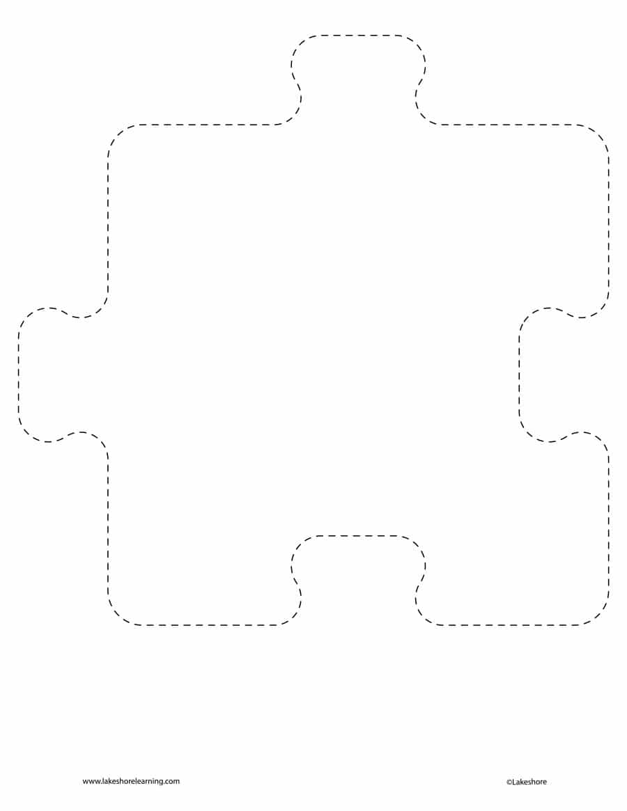 19 Printable Puzzle Piece Templates - Template Lab - Free Blank Printable Puzzle Pieces