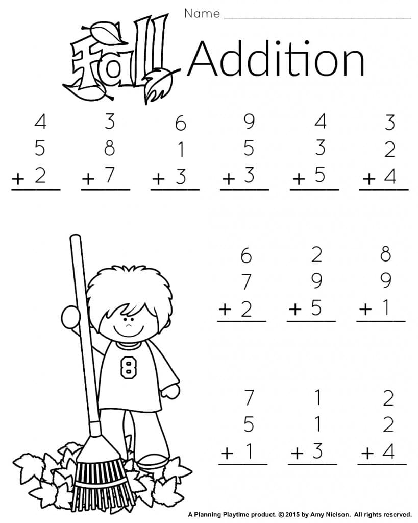 1St Grade Math And Literacy Worksheets With A Freebie! - Planning - Free Printable Worksheets For 1St Grade Language Arts