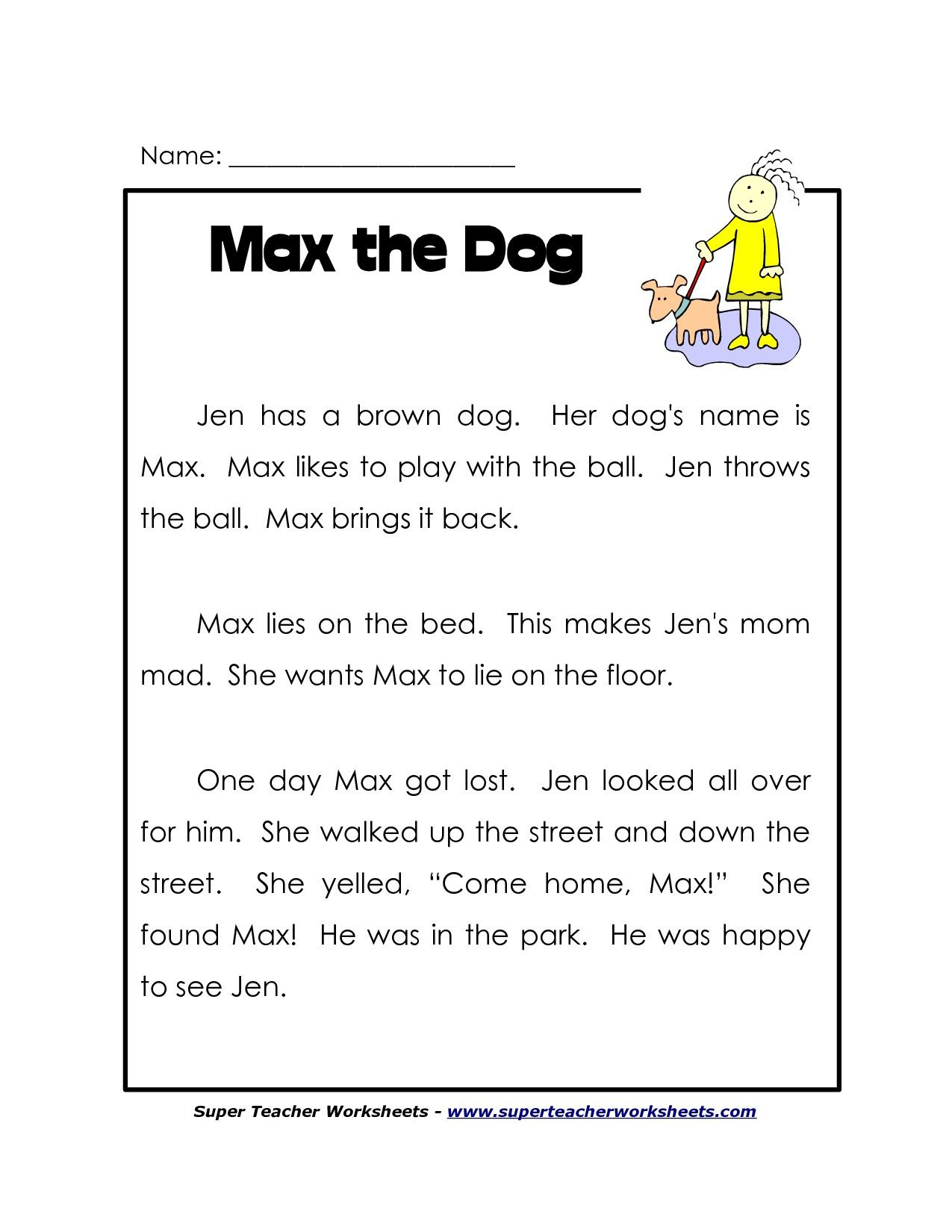 1St Grade Reading Worksheets Free. Lots More On - Free Printable Grade 1 Phonics Worksheets
