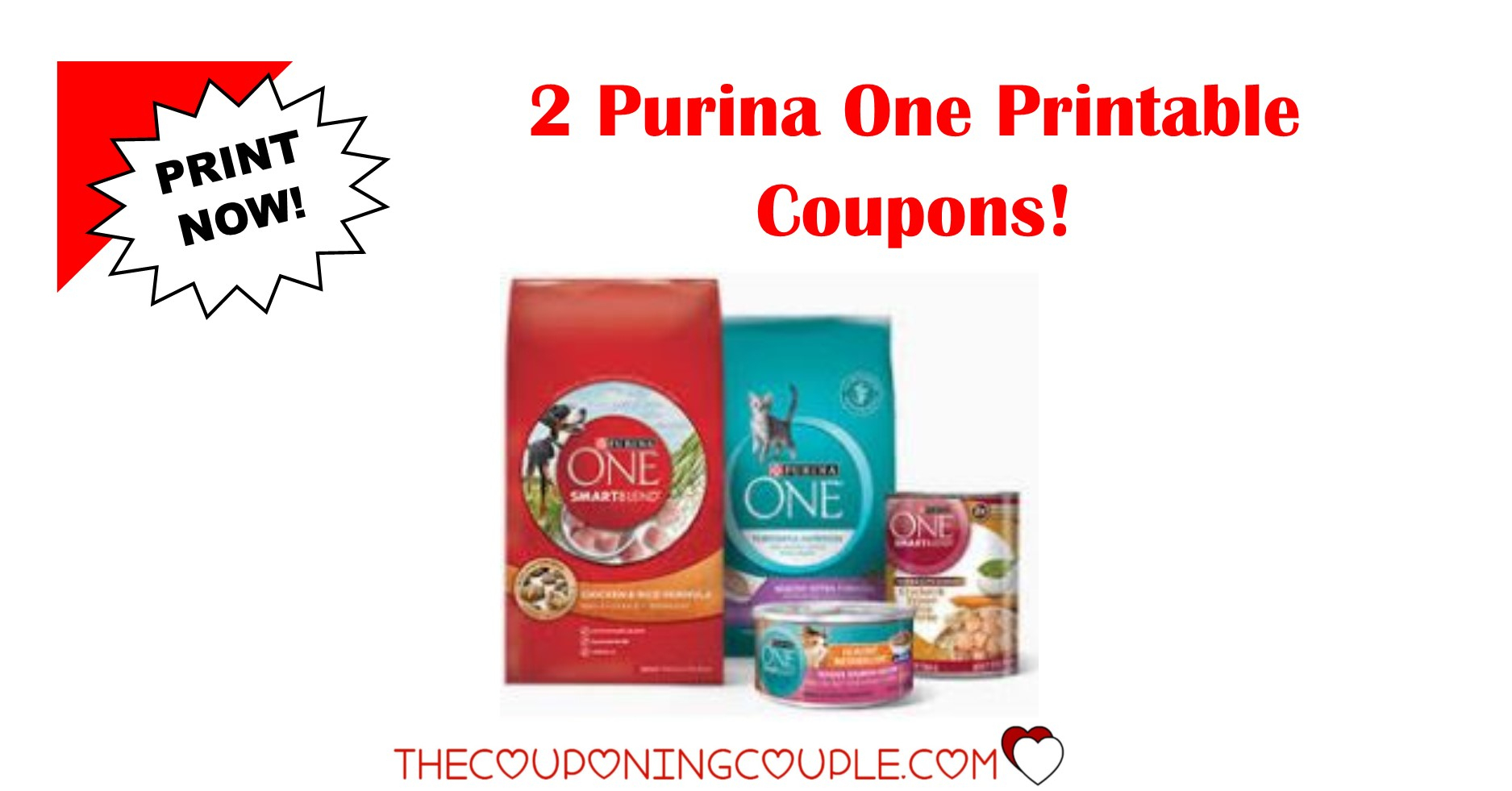 2 Purina One Printable Coupons ~ Both Coupons Are B1G1! - Free Printable Coupons For Food