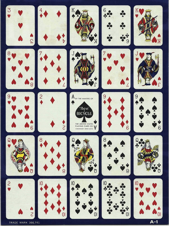 2 Vintage Pokeno Cards Paper Ephemera Mixedannesaccumulations - Free Printable Pokeno Game Cards