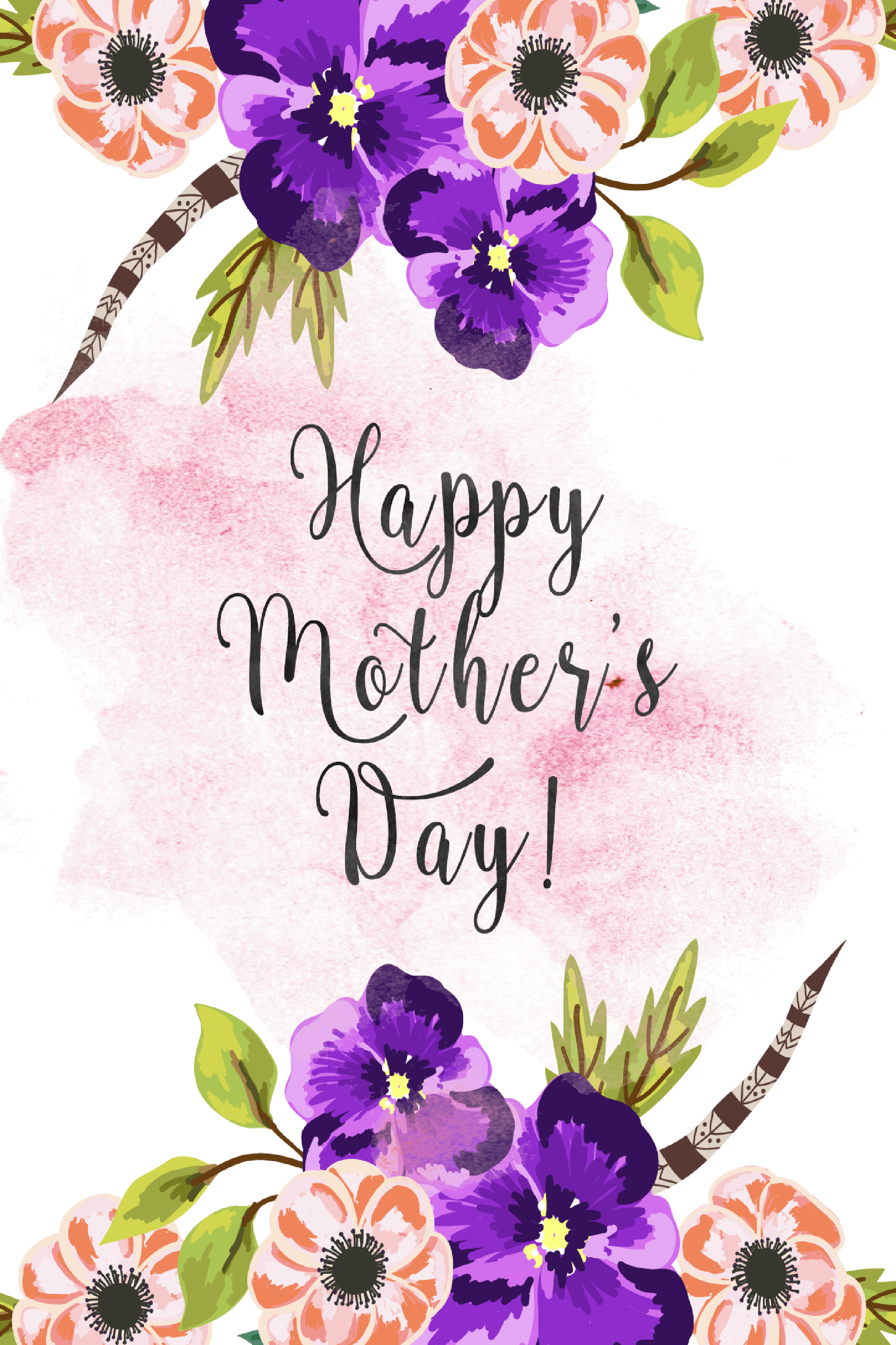20 Cute Free Printable Mothers Day Cards - Mom Cards You Can Print - Free Printable Mothers Day Cards From The Dog