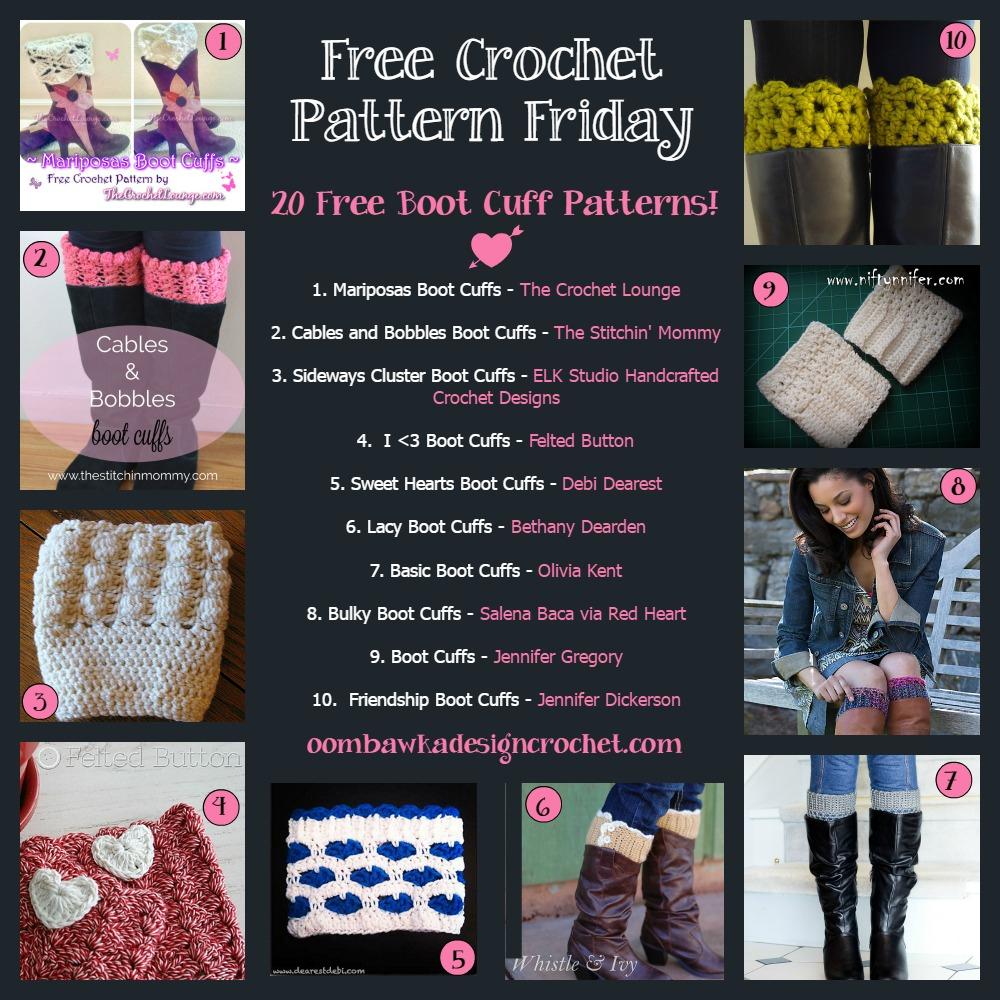 20 Free Boot Cuff Crochet Patterns! • Oombawka Design Crochet - Free Printable Crochet Patterns For Boot Cuffs