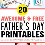 20+ Free Father's Day Printables   Happiness Is Homemade   Free Printable Fathers Day Cards For Preschoolers