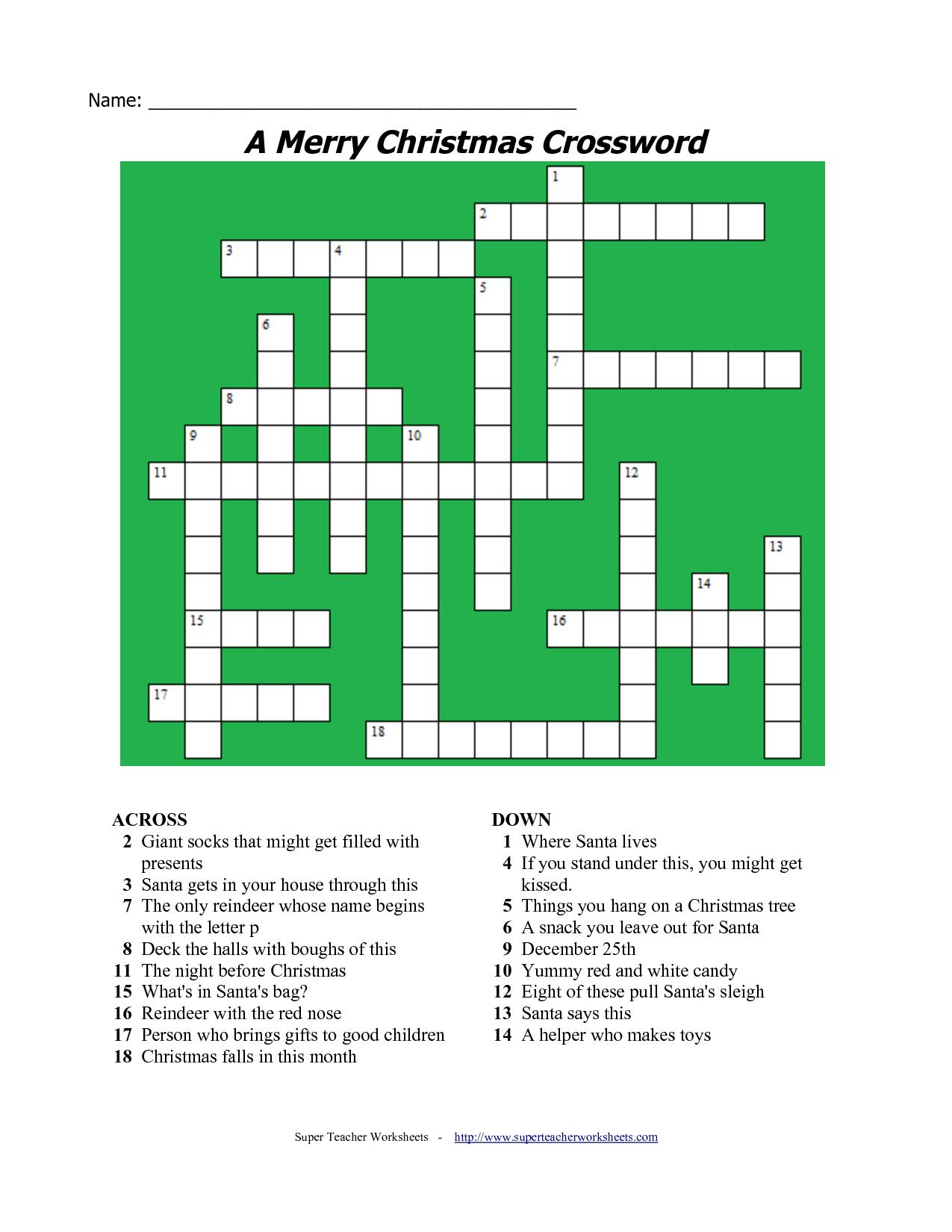 20 Fun Printable Christmas Crossword Puzzles   Kittybabylove - Free Printable Christmas Puzzle Sheets