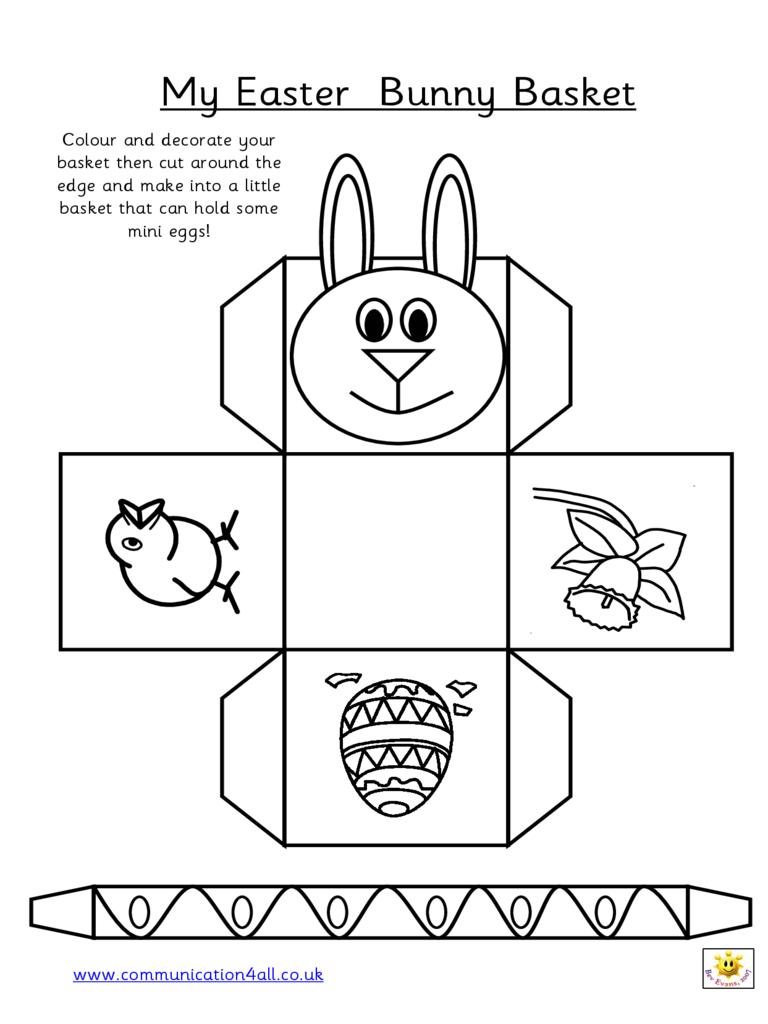 2019 Easter Basket Template - Fillable, Printable Pdf & Forms | Handypdf - Free Printable Easter Egg Basket Templates