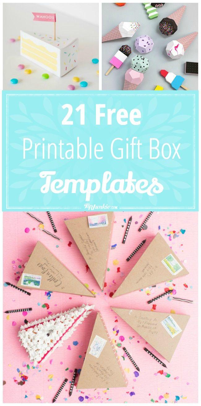 21 Free Printable Gift Box Templates | ** Free Printables - Box Templates Free Printable