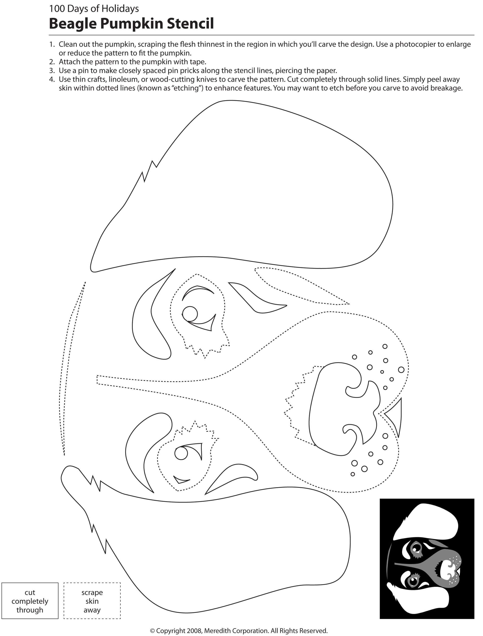 22 Free Pumpkin Carving Dog Stencils (Breed Specific) | Dogs - Free Printable Pumpkin Carving Templates Dog