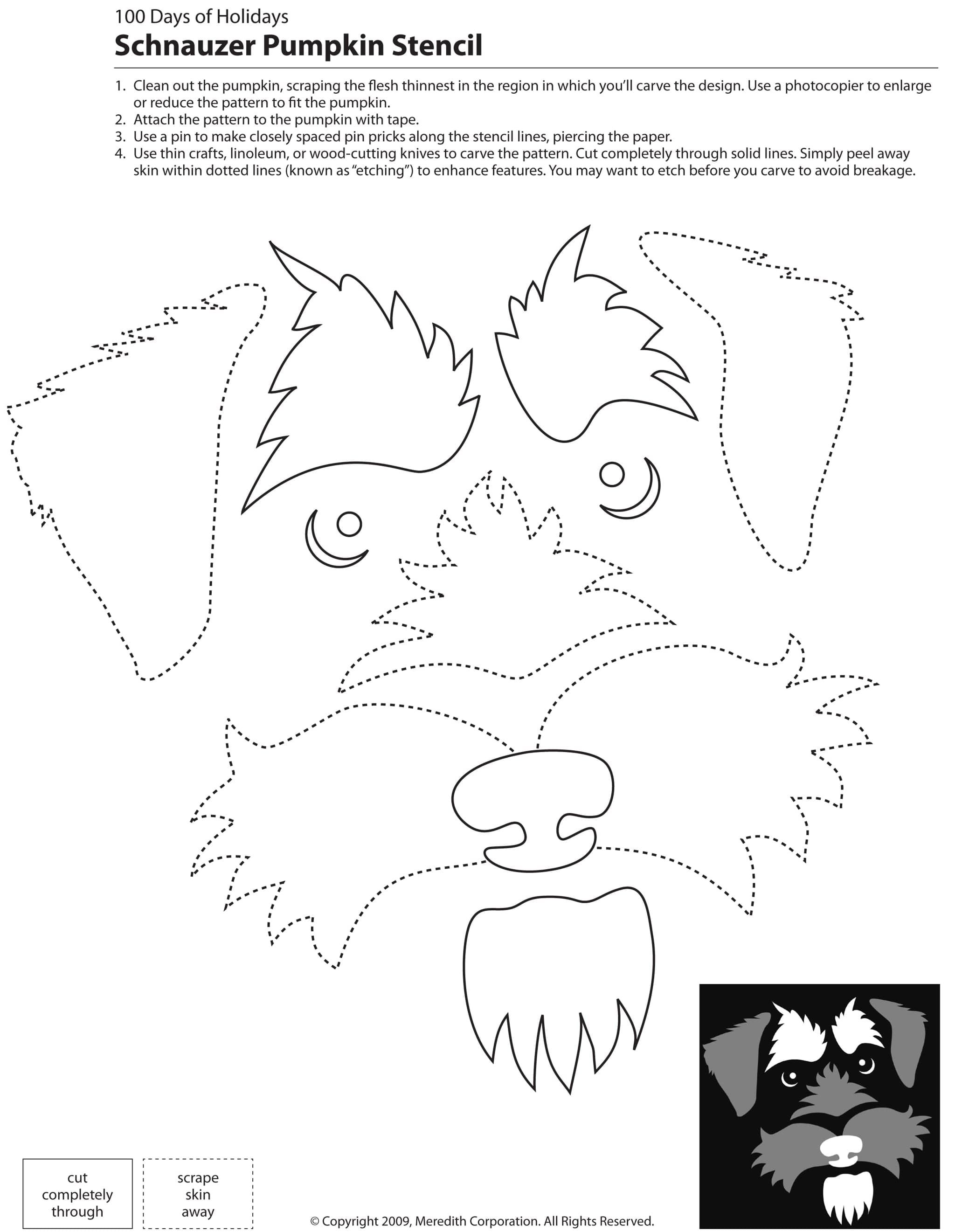 22 Free Pumpkin Carving Dog Stencils (Breed Specific) | Halloween - Free Printable Pumpkin Carving Templates Dog