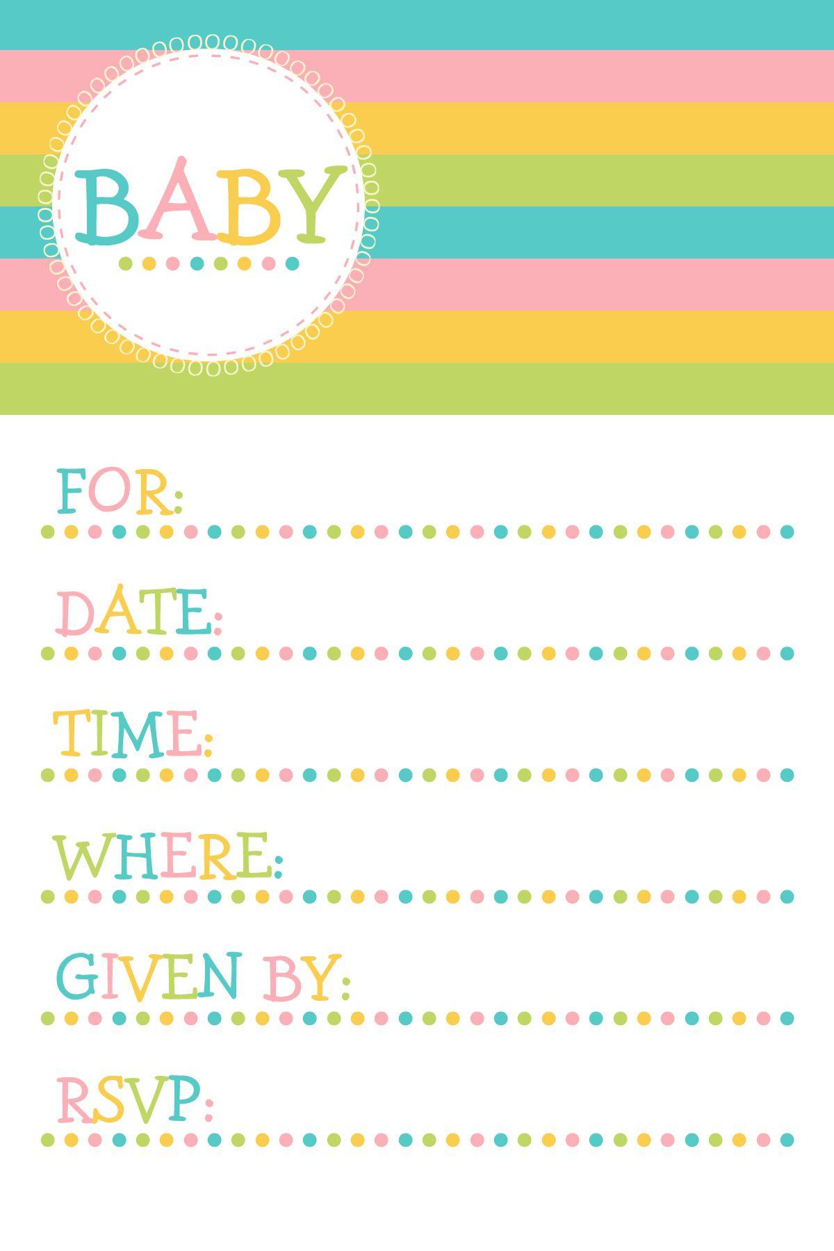 25 Adorable Free Printable Baby Shower Invitations - Free Printable Blank Baby Shower Invitations