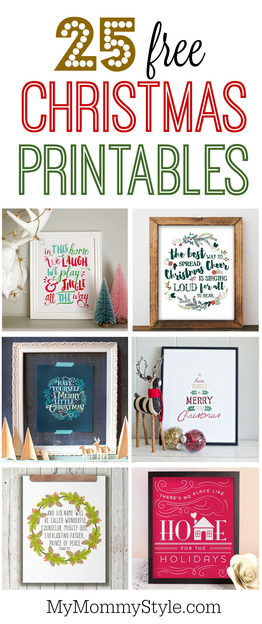 25 Free Christmas Printables - My Mommy Style - Free Printable Christmas Pictures