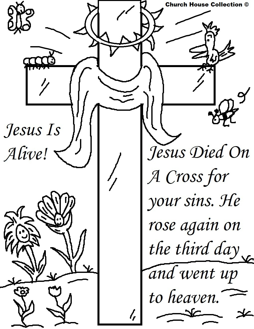 25 Religious Easter Coloring Pages | Free Easter Activity Printables - Free Easter Color Pages Printable