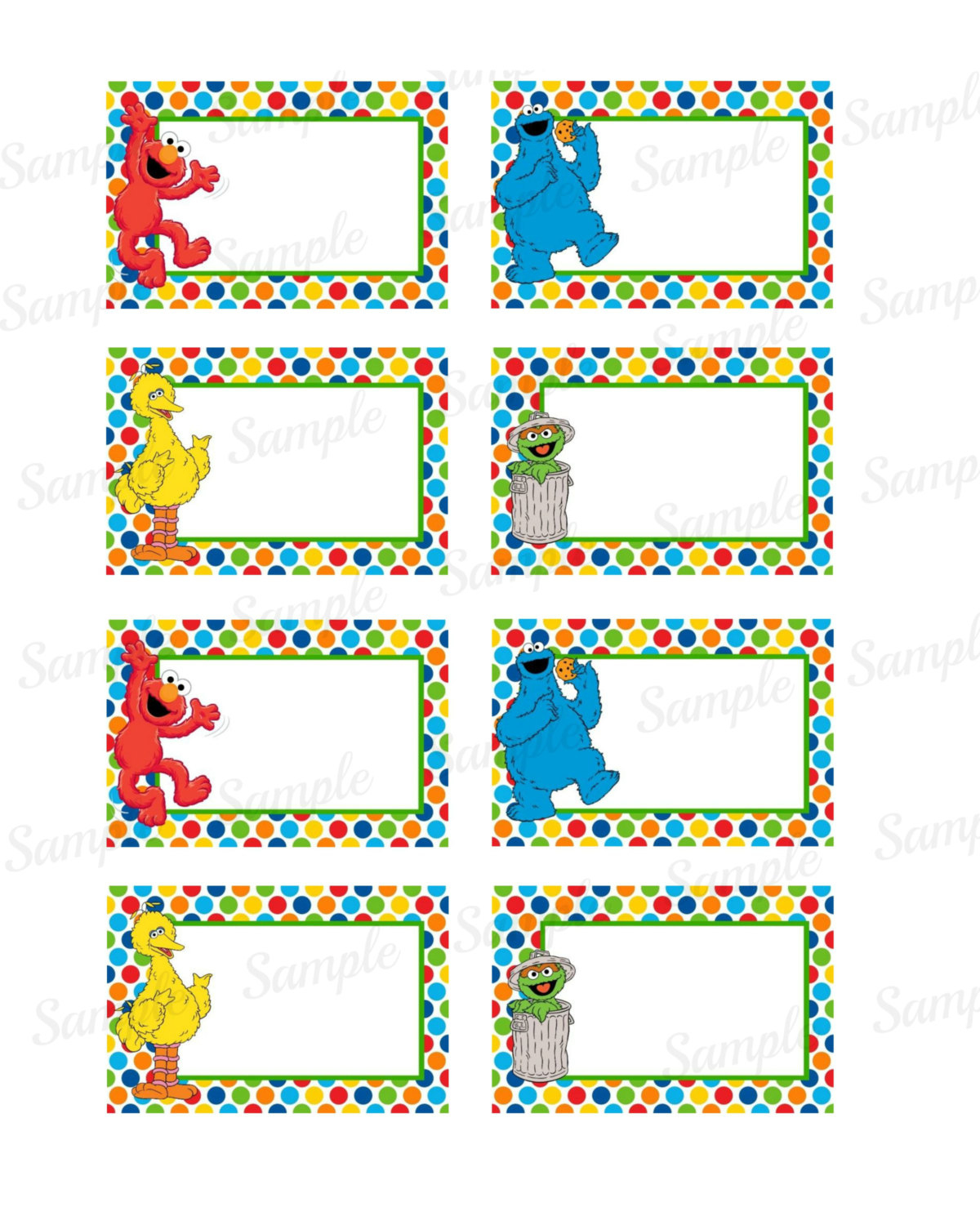 27 Images Of Elmo Label Template   Bfegy - Free Printable Sesame Street Food Labels