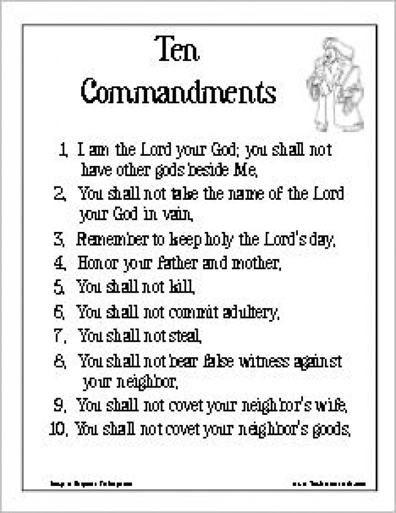 28+ Collection Of Ten Commandments Coloring Pages Catholic | High - Free Catholic Ten Commandments Printable