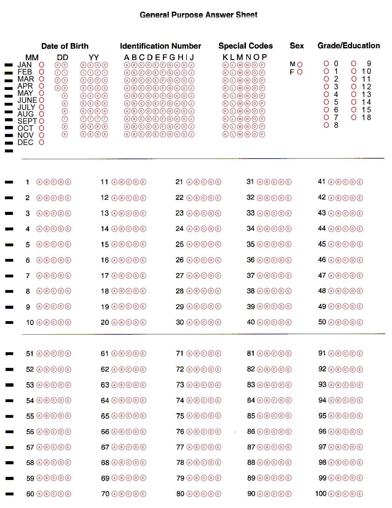 28 Images Of Bubble Answer Sheet Template | Matyko - Free Printable Bubble Answer Sheets