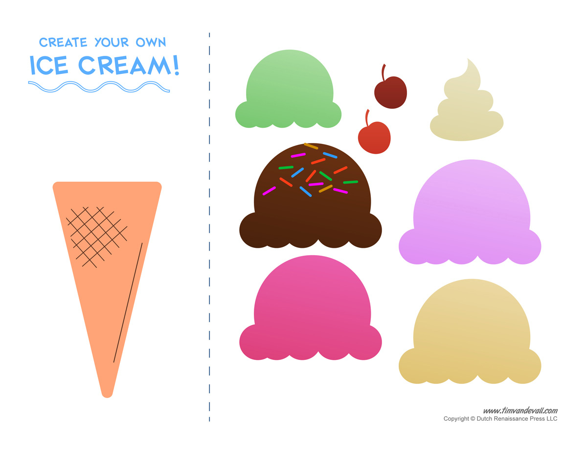 28 Images Of Free Printable Ice Cream Template | Unemeuf - Ice Cream Cone Template Free Printable