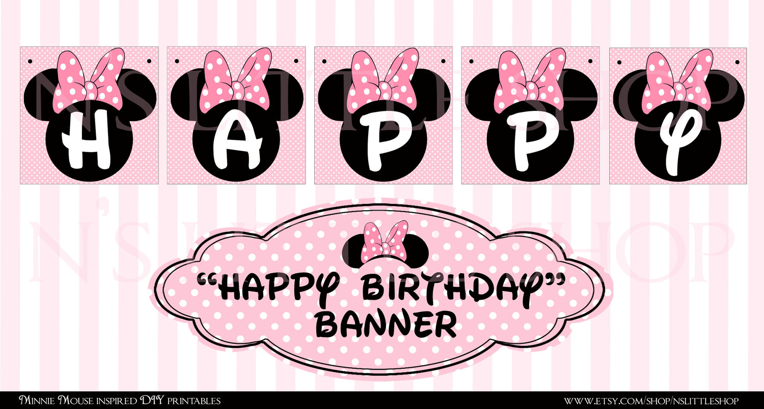 29 Images Of Minnie Mouse Banner Template | Bfegy - Free Printable Minnie Mouse Birthday Banner