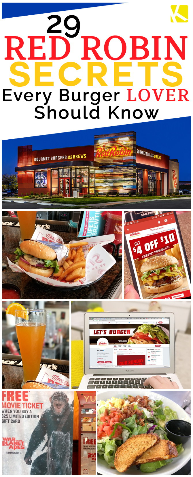 29 Red Robin Secrets Every Burger Lover Should Know - The Krazy - Free Red Robin Coupons Printable