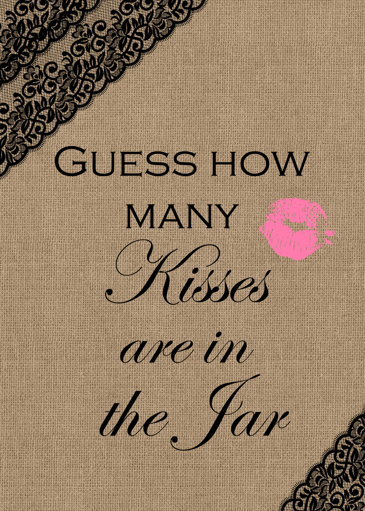 2_Free_Printable_Games Archives - Bridal Shower Ideas - Themes - How Many Kisses Game Free Printable