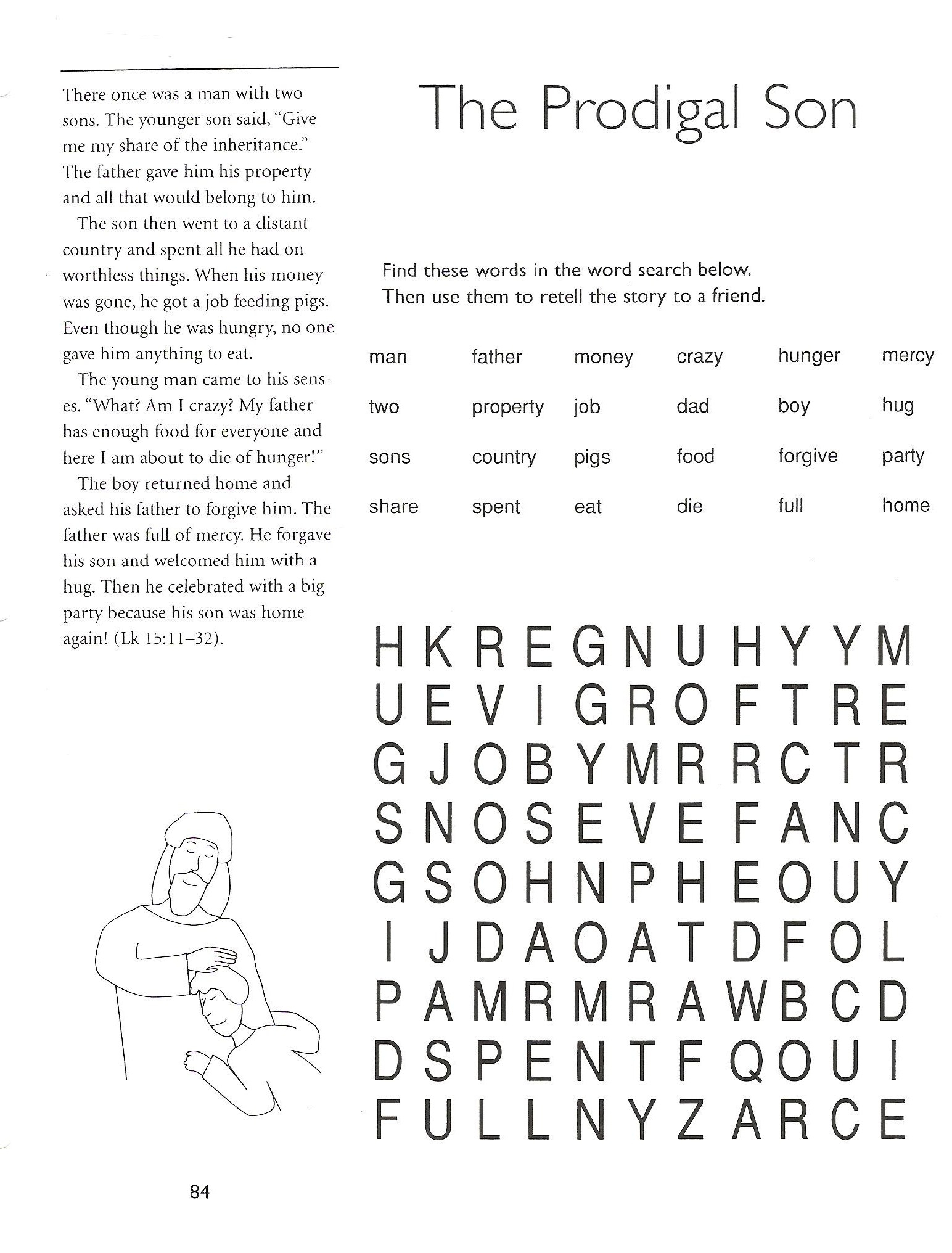 2Nd Grade Catechist Resources - Church Of St. Peter's Mendota Church - Free Printable Catholic Word Search