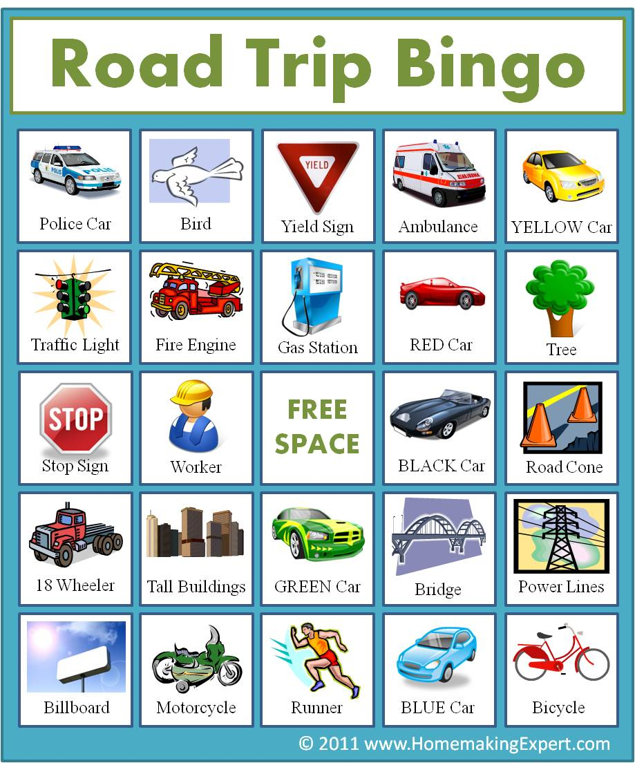 3 Car Bingo Games { Free Printable} - 24/7 Moms - Free Printable Car Bingo