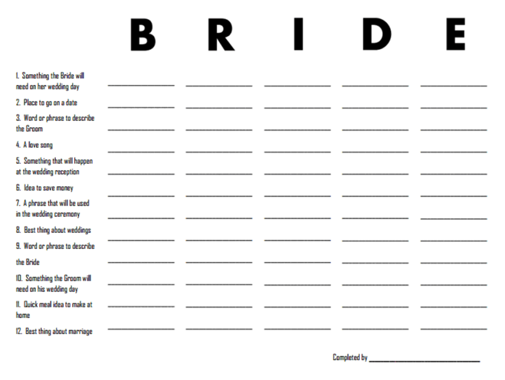 3 Free Printable Bridal Shower Games (That Are Actually Fun - Free Printable Wedding Party List