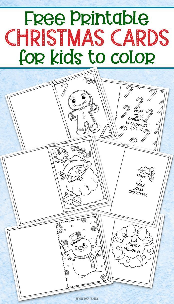 3 Free Printable Christmas Cards For Kids To Color | Inspired - Free Printable Cards To Color