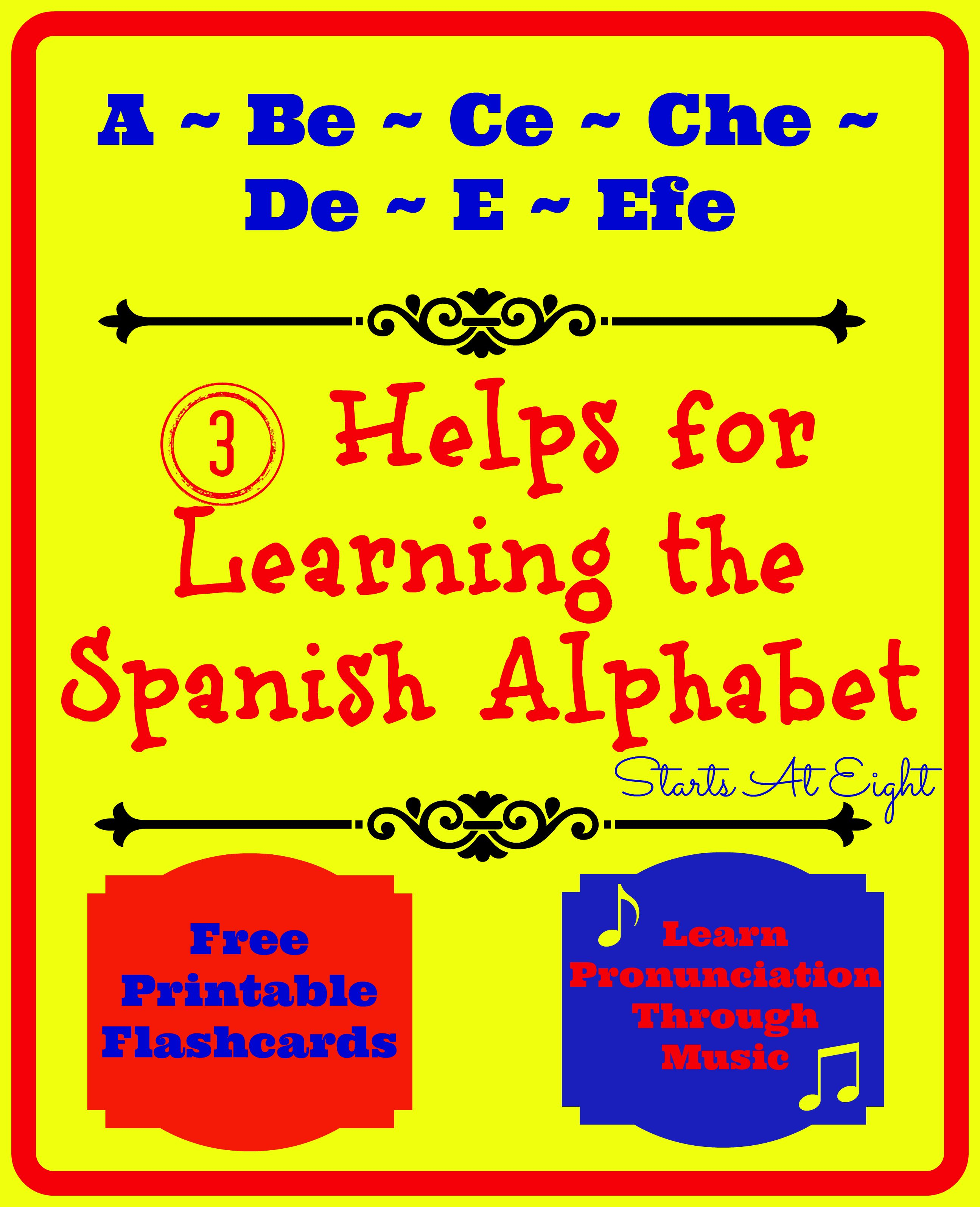 3 Helps For Learning The Spanish Alphabet | Lesson Plans | Spanish - Spanish Alphabet Flashcards Free Printable