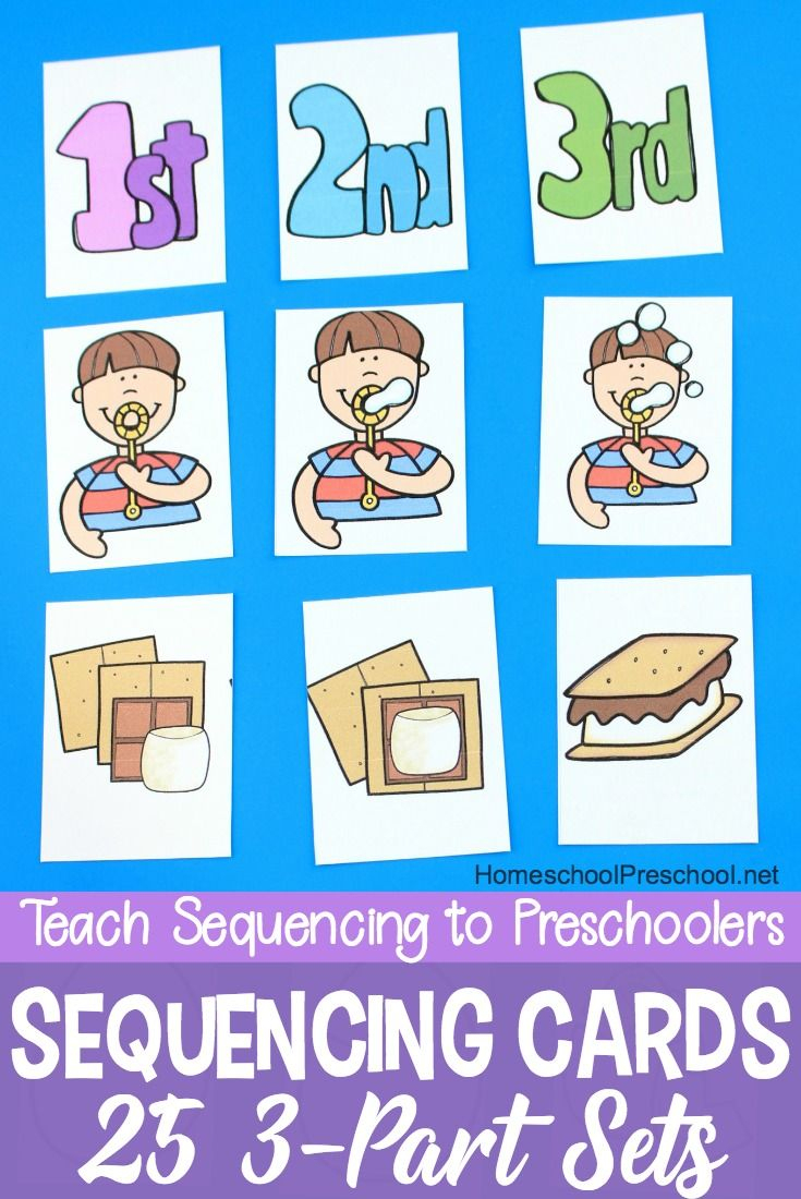 3 Step Sequencing Cards Free Printables For Preschoolers | Speech - Free Printable Sequencing Worksheets For Kindergarten